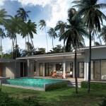 Modern luxury poolvilla