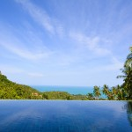 3 bedroom with private pool and superb seaview in Lamai