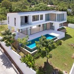 Private Pool Villa with Sea View & Large Garden in Bophut