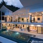 4-bedroom sunrise sea-view pool villa in Lamai