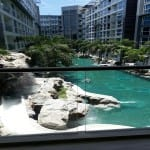 Condominium pool view in central pattaya