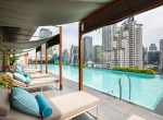 Swimming pool at the luxury and exclusive Ritz Carlton Residence, Bangkok